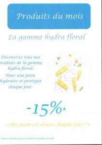 promo du mois - sur gamme hydra floral