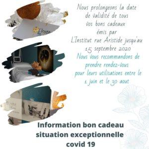 Information bon cadeau